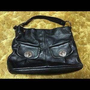Etienne Aigner black leather large purse